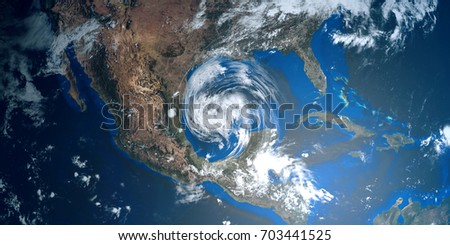 Shutterstock Extremely detailed and realistic high resolution 3D illustration of a Hurricane approaching Texas. Shot from Space. Elements of this image are furnished by Nasa.