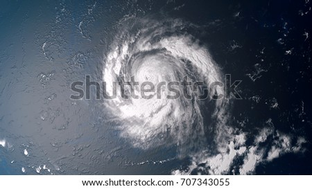 Shutterstock Extremely detailed and realistic high resolution 3d illustration of a hurricane in the middle of the atlantic ocean approaching the USA. Shot from space. Elements of this image are furnished by Nasa.