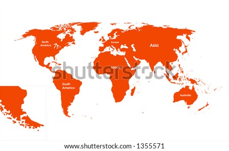 world map continents. detailed world map,with