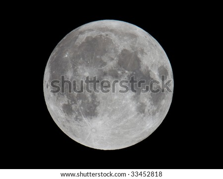 Extremely High Resolution Photo of Full Moon (shot with 21 mega-pixel camera)