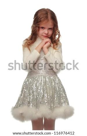 Extremely sad little girl
