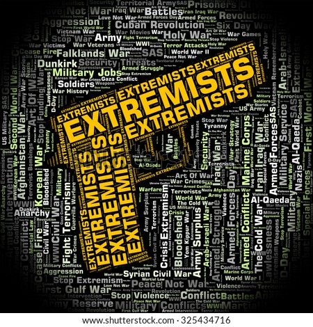 Extremists Word Indicating Dogmatism Words And Text