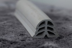 extruded rubber dilatation profile, close up