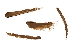 Eye brow brown gel smudge samples