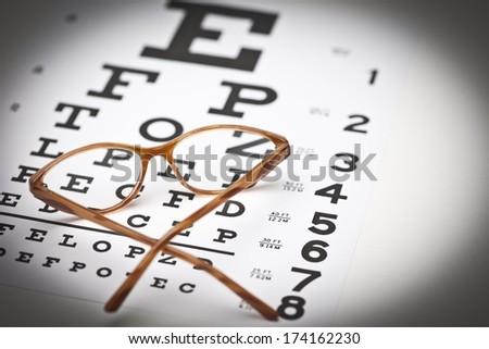 Eye Chart and Glasses #174162230