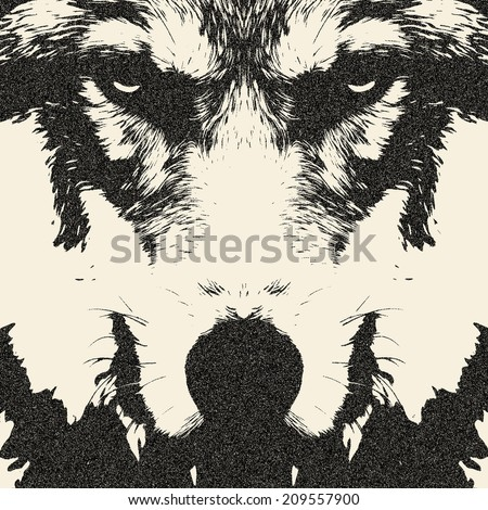 eye contact with a severe wolf. ...