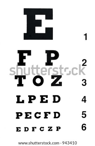 Eye Chart To Test For Reading Glasses | David Simchi-Levi