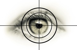 Eye in the cross hairs