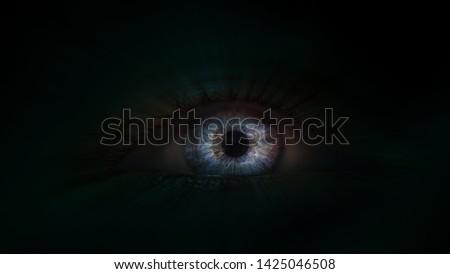 Eye in the darkness, eye macro, eye daemon
