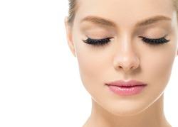 Eye lashes woman beauty face macro