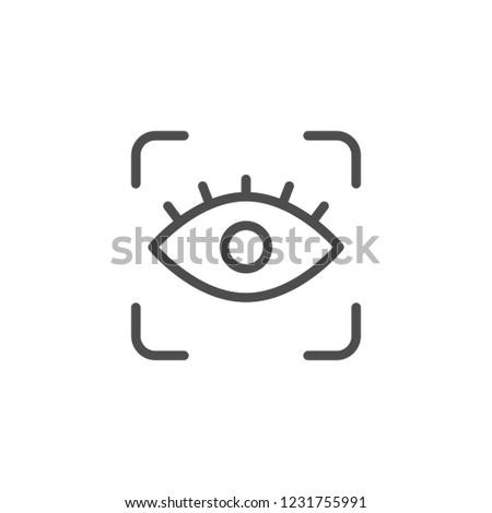 Eye line icon isolated on white