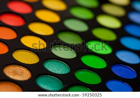Makeup Palette on Eye Makeup Palette Close Up Stock Photo 59250325   Shutterstock