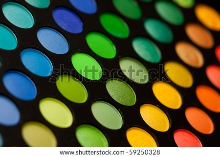 Makeup Palette on Eye Makeup Palette Close Up Stock Photo 59250328   Shutterstock