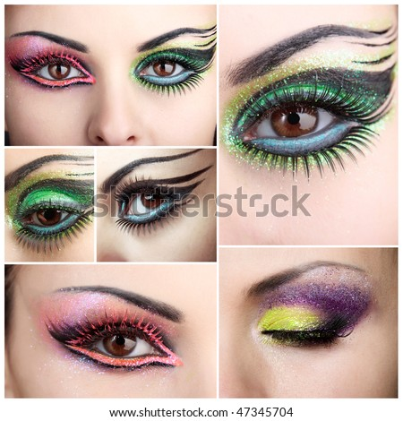 eye makeup look. turquoise eye makeup looks.