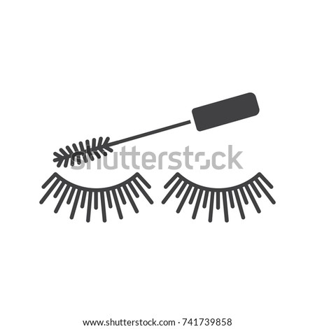 Eye mascara glyph icon. Silhouette symbol. Negative space. Raster isolated illustration