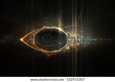 Eye of Horus abstract flame fractal background design