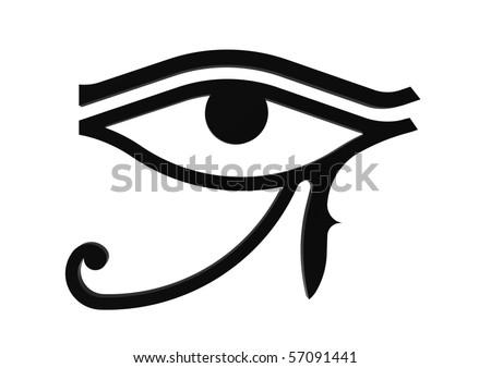 eye of horus symbol. stock photo : Eye of Horus symbol of the egyptian god Horus, hieroglyph