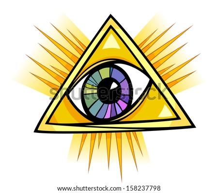 Eye of Providence Cartoon Illustration Clip Art