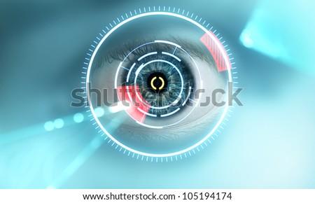 eye scan interface