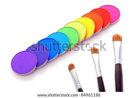 Eye shadow and brushes