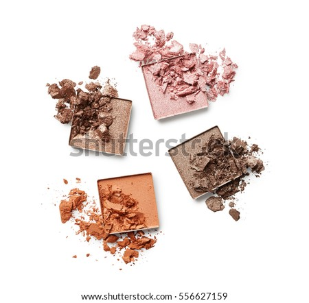 Eye shadow isolated on white background