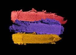 Eye shadow multicolored black background blue color