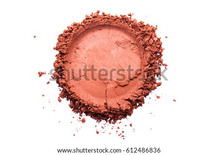 Eye shadow white isolated background terracotta