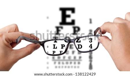 Eye test - stock photo