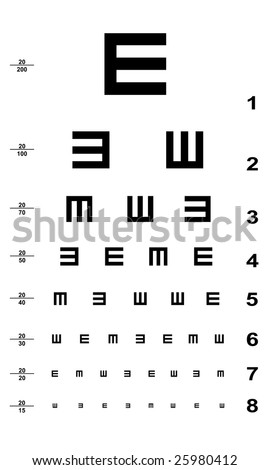 Texas Drivers License Eye Test Chart