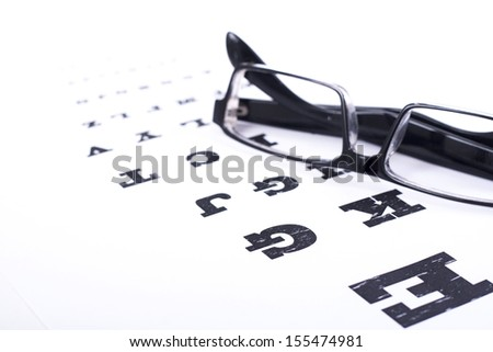 Eye test - Stock Image - white background