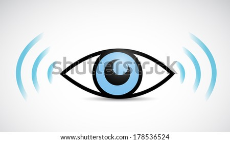 eye wifi illustration design over a white background