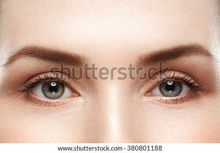 Eye woman eyebrow eyes lashes  - Shutterstock ID 380801188
