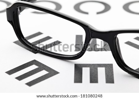 Eyechart with eyewear