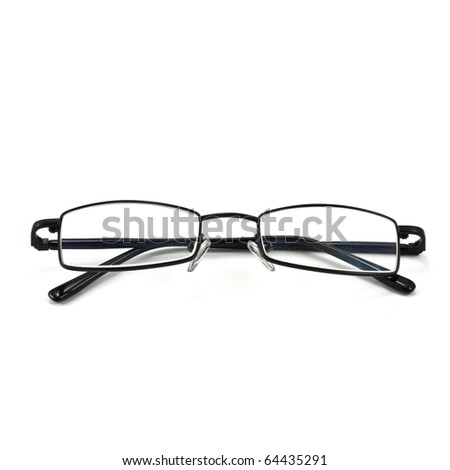 eyeglasses isolated on the white backogrund