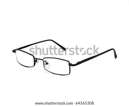 eyeglasses isolated on the white backogrund