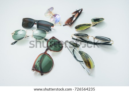 eyeglasses isolated on white, eyeglasses, glasses, sun glasses - Shutterstock ID 726564235