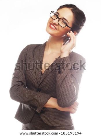 Eyeglasses Woman Using Phone #185193194