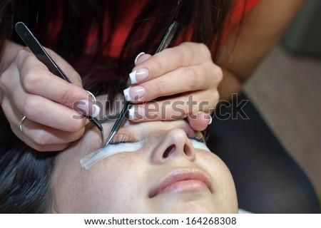 Eyelash extensions, eyelash correction, removal of lashes #164268308