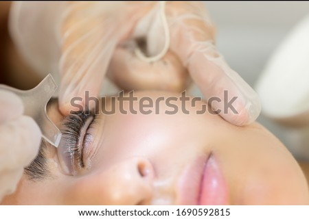 Eyelash treatment applied to a young woman Stock photo ©