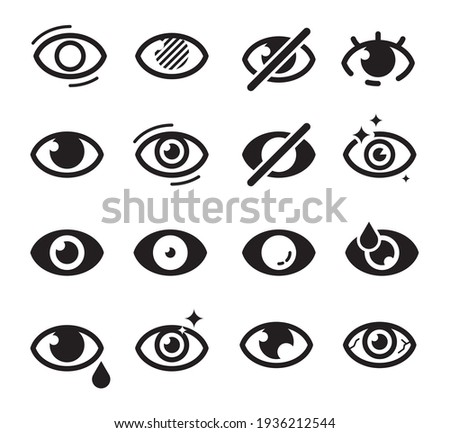 Eyes icon. Optical care symbols eyesight vision cataract blinds good looking medicine pictures searching icons collection