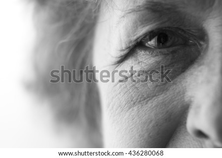eyes of an elderly woman #436280068