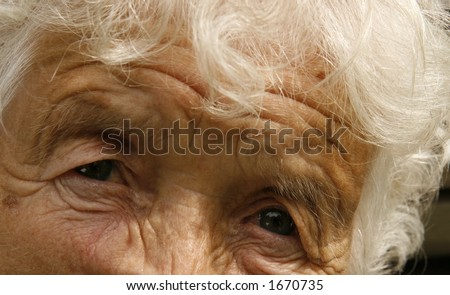 eyes of an old woman