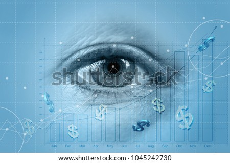 Eyes watching the dynamics of profit growth. #1045242730