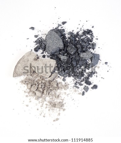 eyeshadow isolated on white