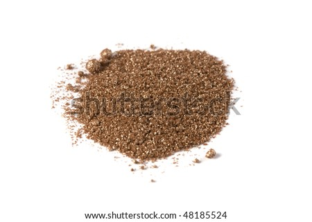 eyeshadow shimer crumbly pigment dust - stock photo