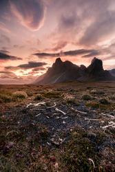 Eystrahorn during sunset - Iceland