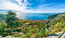 Eze village at french Riviera coast, Cote d'Azur, France