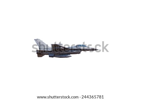 f16 falcon fighter jet on white background