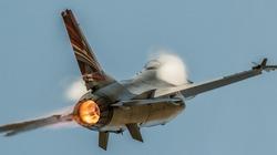 F16 fighter jet  military jet flying