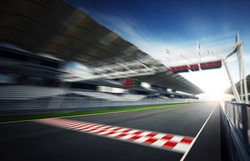 F1 Motion blur race track